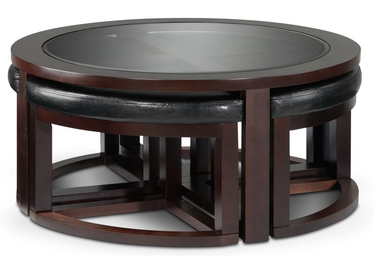 Emma Occasional Tables Cocktail Table w/ 4 Ottomans - Leon's