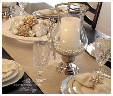 Christmas table setting this blog has great decorating for House table decorations
