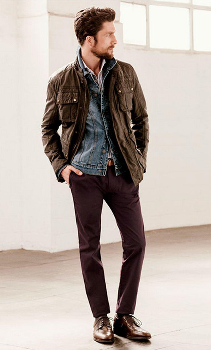 49 Best Men S Brown Leather Jackets Images On Pinterest