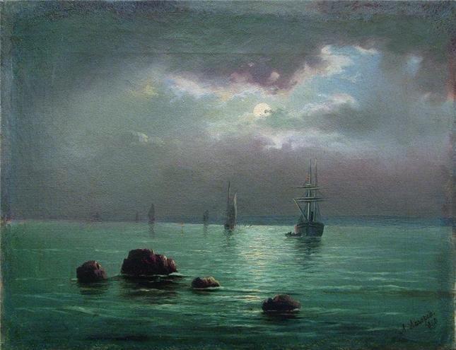 Лагорио Л.Ф. Закат над заливом 1860 (Частная коллекция)