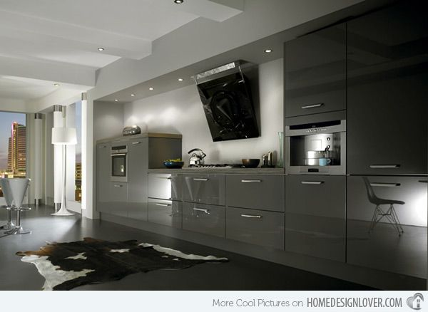 16 best Kitchen images on Pinterest Contemporary unit kitchens - kleine küche planen