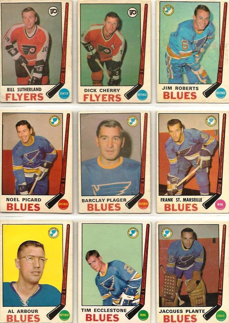 172-180 Bill Sutherland, Dick Cherry, Jim Roberts, Noel Picard, Barclay Plager, Frank St. Marseille, Al Arbour, Tim Ecclestone, Jacques Plante