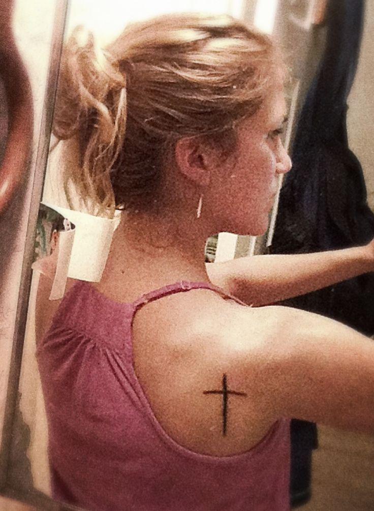 #cross #shoulder #tattoo