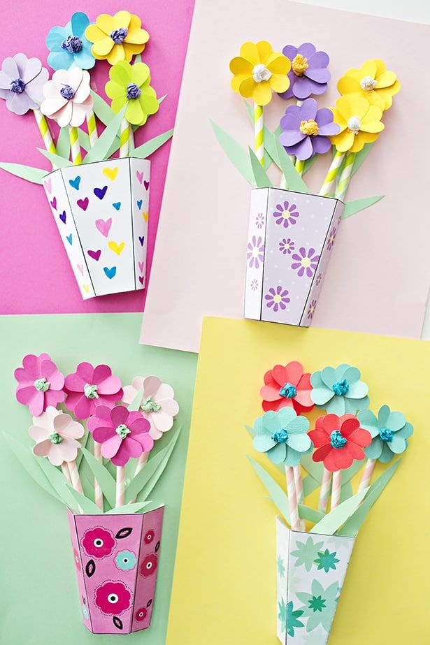 HOW TO MAKE 3D PAPER FLOWER BOUQUETS WITH VIDEO Craft Ideas