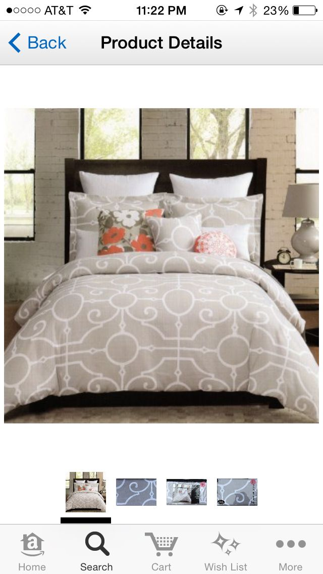 pop of color with neutral bedding