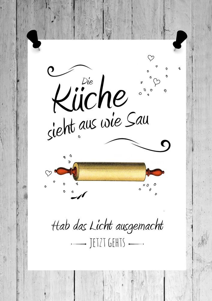 Druck Fine Art Bild Poster Kuche Print Shabby Weiss Din A4 Din A3 Mobel Wohnen Dekoration Bilder Drucke E Poster Kuche Spruch Kuche Poster Spruche