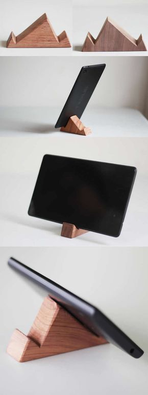 Portable Wooden iPhone iPad SmartPhone Holder Stand Mount for iPhone iPad and Other Cell Phone