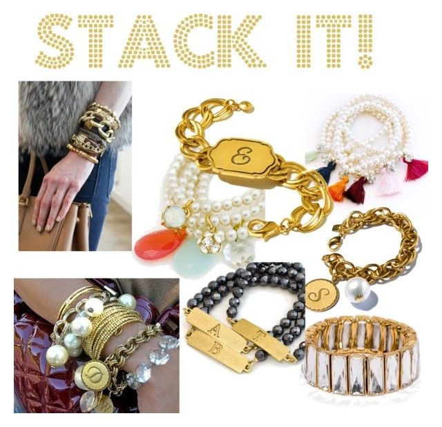 """""""Stack it!"""" by john-wind-jewelry ❤ liked on Polyvore featuring John Wind, modern, vintage, women's clothing, women's fashion, women, female, woman, misses and juniors"""