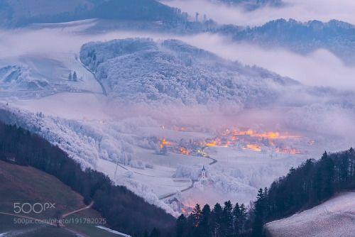 Swiss winter magic II by RetoSavoca  fog morning winter travel snow frost day break Belchenflue Landscape Switzerland Swiss Solothurn Bel