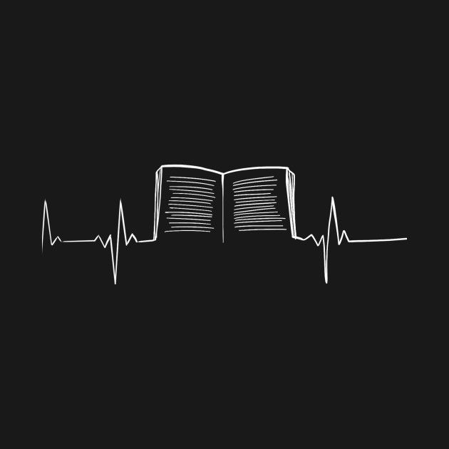 Check Out This Awesome Book Heartbeat Design On Teepublic Black Aesthetic Wallpaper Black And White Instagram Book Wallpaper