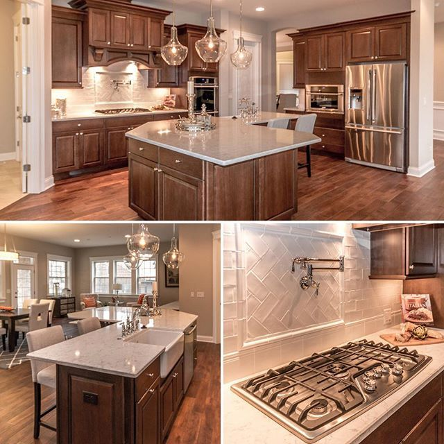 From the wrap-around island, to the farmhouse sink to the pot filler faucet… there are so many details to love in this Chicago kitchen! #kitchen #dreamkitchen #potfiller #famhousesink #farmsink quickmovein #realestate #newhomes #dreamhome #inspiration #instahome #home #homebuilder #homebuilders #chicago #GlenEllyn #davidweekleyhomes
