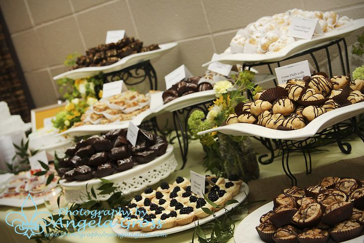 Dessert Table For Summer Wedding | ... Catering created this wonderful arrangement for the dessert table