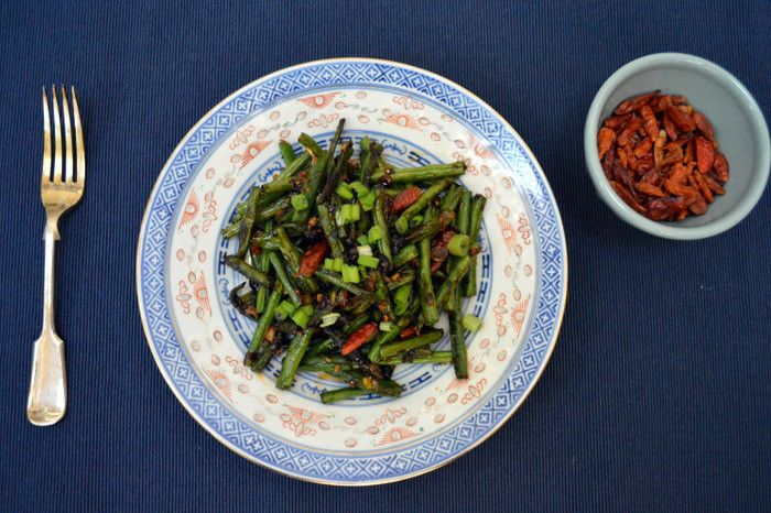 Dry Fried Green Beans - https://canalcook.wordpress.com/2015/01/18/dry-fried-green-beans-two-ways/