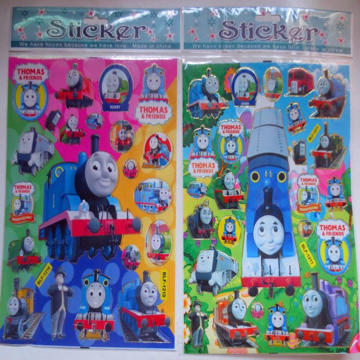 3 Sheets Set Thomas and Friends Train Waterproof 3D Stickers Graffiti Decal Bubble Laptop Doodle Decor Stickers Gifts for Kids #Affiliate