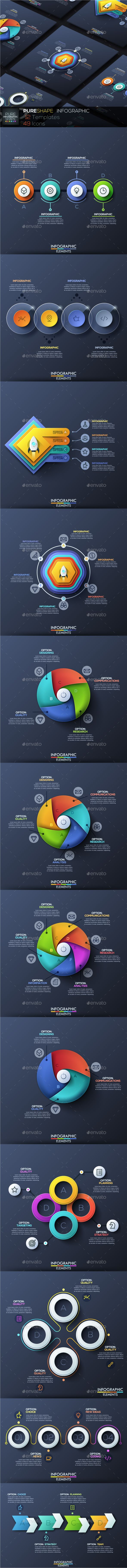 Pure Shape Infographic Templates PSD, Vector EPS, AI Illustrator