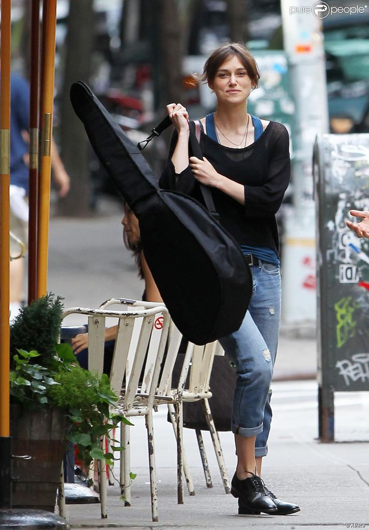 """Keira Knightley in """"Begin Again"""" (Can a Song Save Your Life?) (2013). Director: John Carney."""