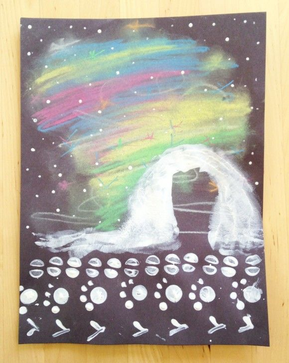 The Sweeter Side of Mommyhood » Northern Lights and Arctic Animal Tracks