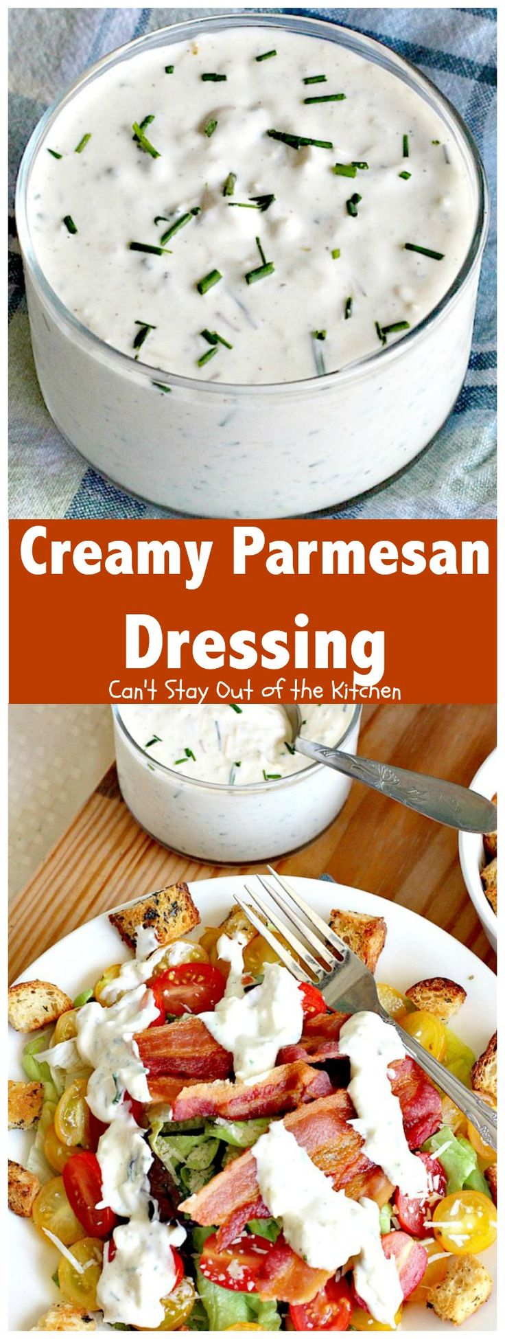 Creamy Parmesan Dressing | Can't Stay Out of the Kitchen | this fabulous #saladdressing is so quick