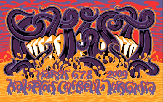 Phish at Hampton Coliseum, by Allen Mercer and Andy Cruz of House Industries
