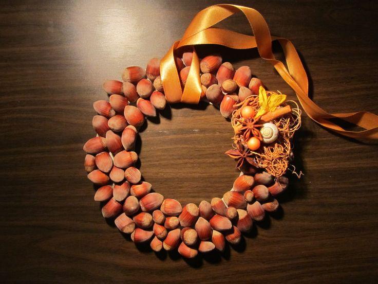 Autumn hazelnut decoration