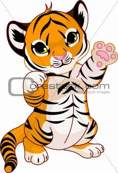 18 best cartoon baby animals images on pinterest baby animals cartoon baby animals image description illustration of cute playful tiger cub waving hello voltagebd Image collections