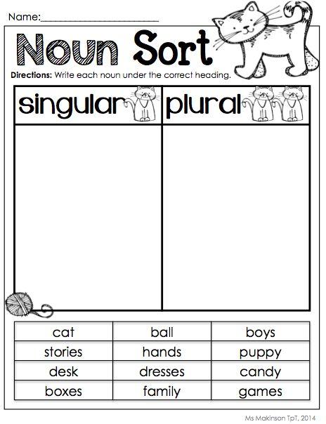 38 best Noun Worksheets images on Pinterest | Teaching ideas ...