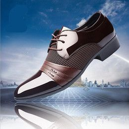 designer luxury brand patent leather black italian mens shoes brands wedding formal oxford shoes for mens pointed toe dress shoes #luxuryshoes