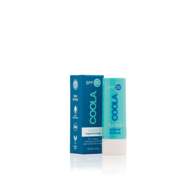 #Coola #Liplux Spf 30 Original Formula è un #trattamento #labbra all-in-one che #idrata e #protegge, ad ampio #spettro #UVA / #UVB con SPF 30 di #protezione. La formula ricca di #vitamine e #antiossidanti lenisce e nutre, mentre la nostra miscela unica di burri di frutta genera una lussuosa sensazione di labbra vellutate.