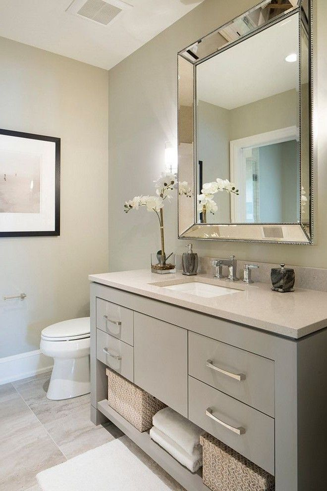 Sherwin Williams 7673 Pewter Cast In 2019 Bathroom Mirror Design Bathroom Vanity Designs