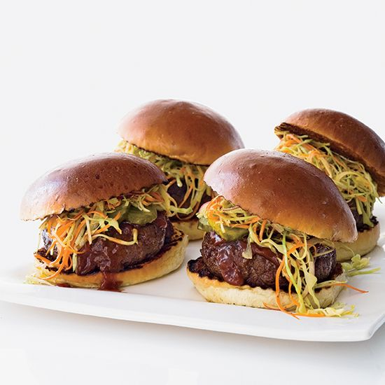 Bobby Flay's Juicy Texas Burgers were inspired by the state's love for BBQ and his Texan wife, Stephanie March, who loves brisket and coleslaw.