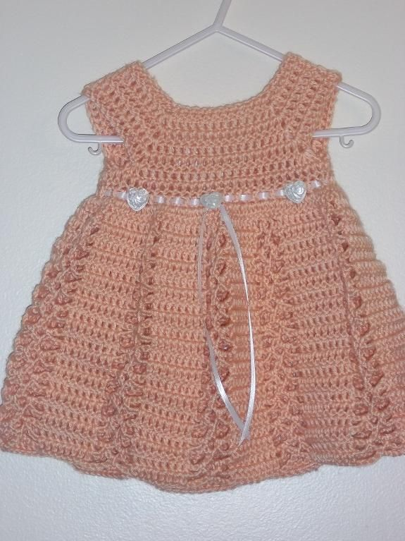 Free Crochet Baby Dress Patterns | Ribbon & Lace ... by CraftingFriends | Crocheting Pattern