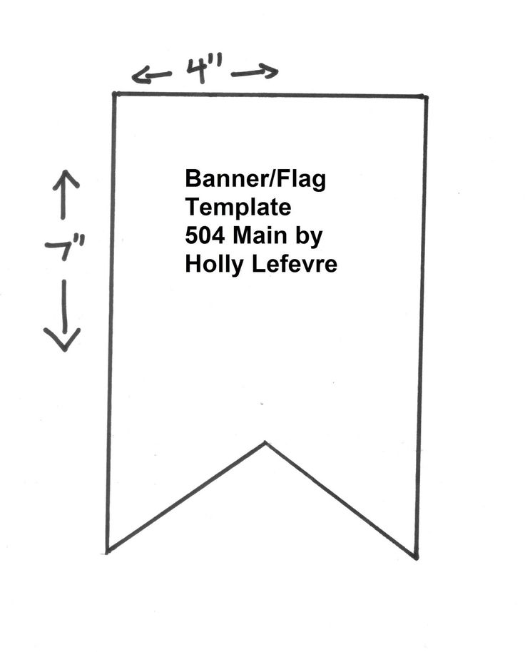Printable banner template. That's simple and handy!