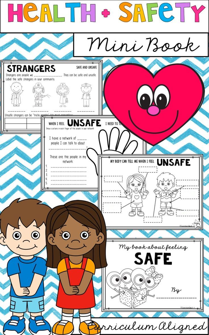 Health and Safety mini book for First and Second Grade. Year One and Two health.