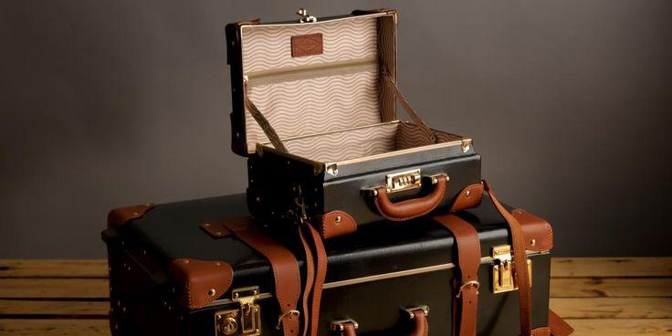 The Diplomat Vanity Case in Black   Black Vanity Case   Steamline Luggage