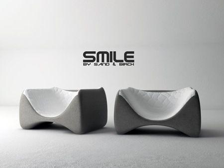 Silla Smile diseño de SandBirch Poliuretano moldeo por inyeccion