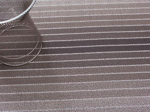Block Stripe Indoor/Outdoor Mat   Grey