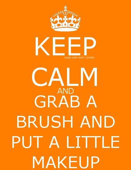 ...grab a brush and put a little makeup