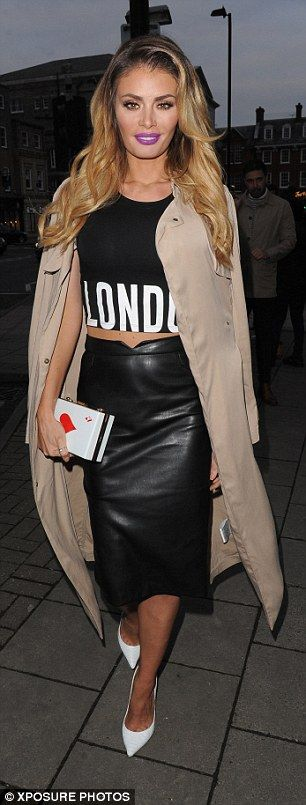 We're loving Chloe Sims in our sporty statement crop! #riverisland #slogan
