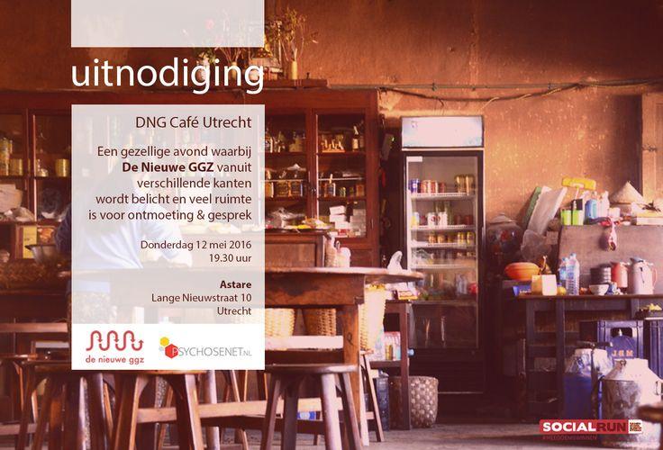 Meer weten over de Nieuwe GGZ? Donderdag 12 mei bij ons in Utrecht het DNG Café. Aanmelden via: redactie@psychosenet.nl
