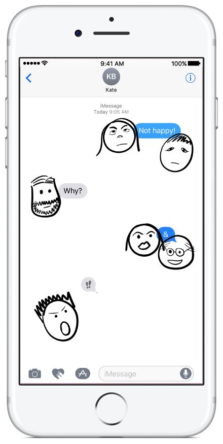 Doodly Faces Animated sticker pack available on the App Store. #faces #doodles #stickerpacks #stickers