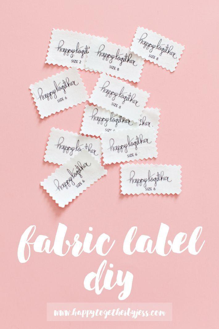 Fabric Label diy | happy together