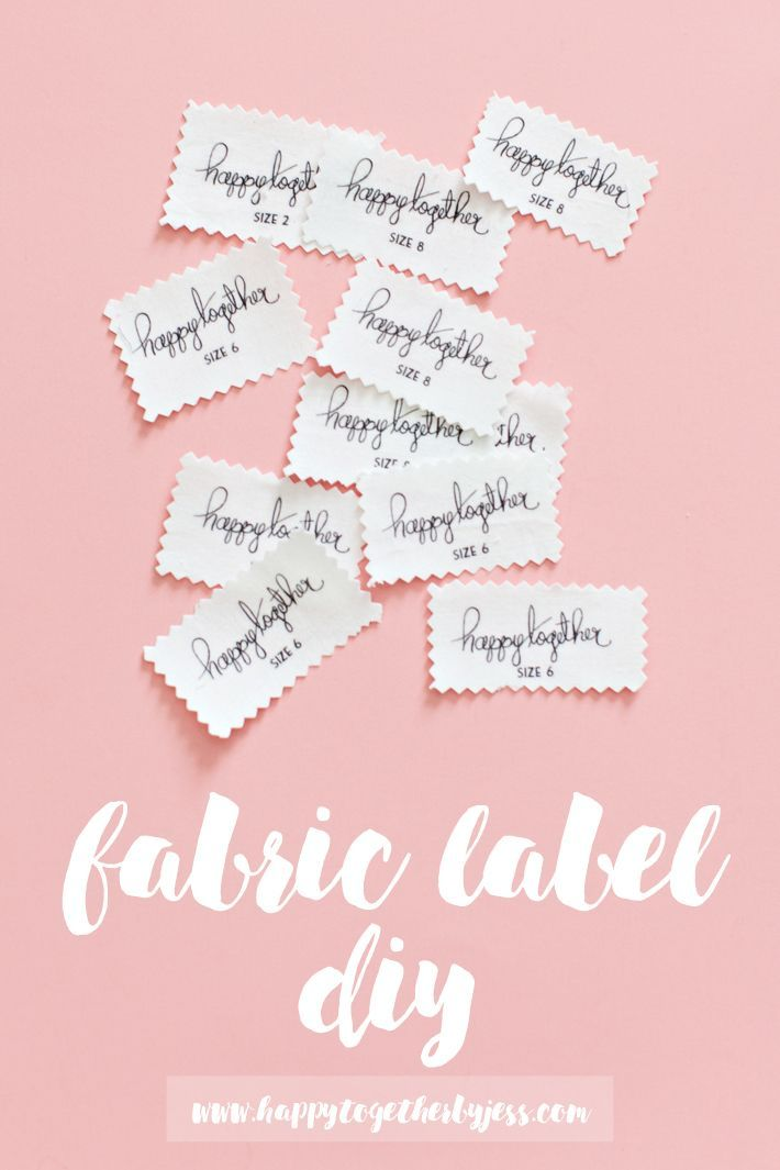 Fabric Label DIY : an easy way to make labels for your sewing creations. I have been using this method for years and its my favorite label diy hands down.   | happy together
