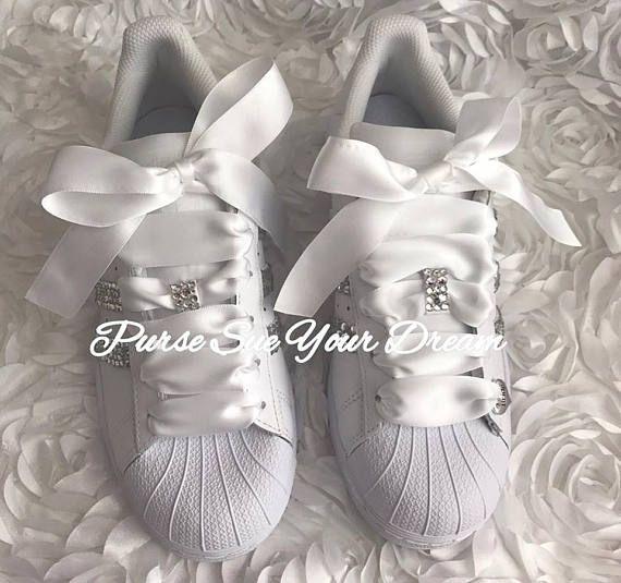 8adb7ce66ed10 Swarovski Crystal Design Bridal Adidas Superstar Wedding Shoes ...