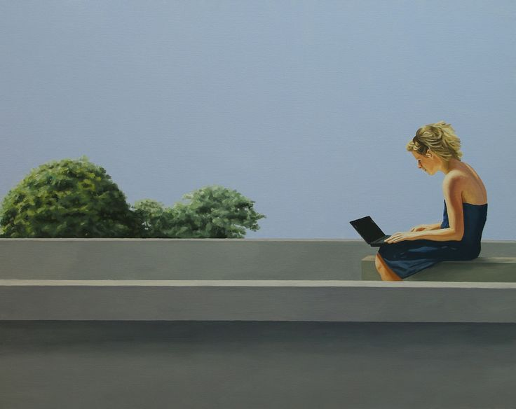 on the roof, oil on canvas , 72.8 × 91.0 cm , 2012