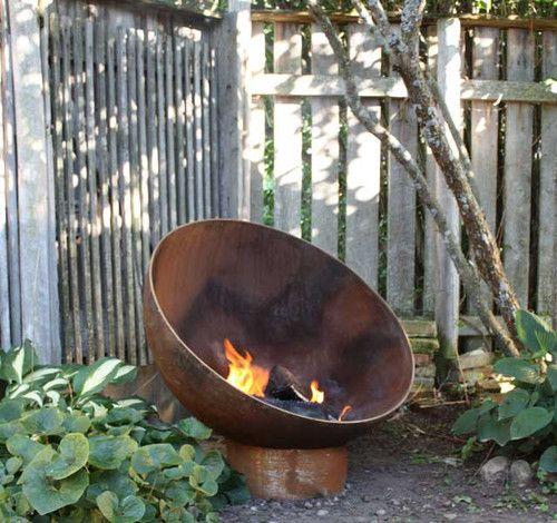 The Meridian 37 inch Sculptural Firebowl - contemporary - firepits - grand rapids - John T. Unger, LLC