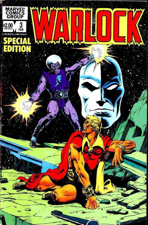 jim starlin  artist | Warlock v2 #3 - Jim Starlin cover  reprints
