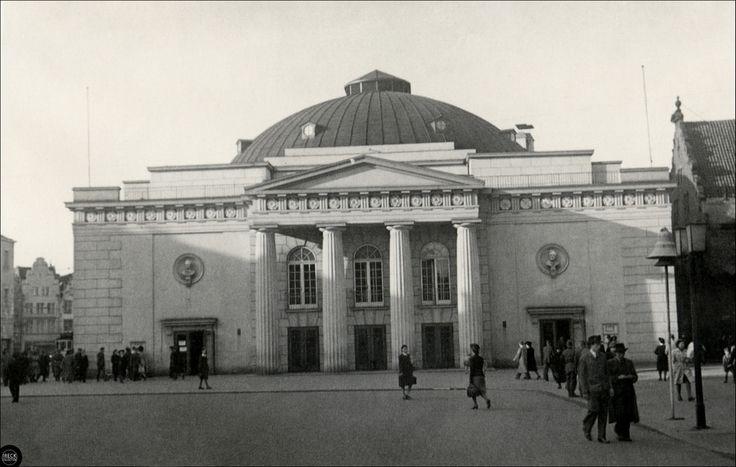 Gdańsk - Danzig 1940er Jahre, Stadttheater, Theater am Kohlenmarkt und Danziger Staatstheater