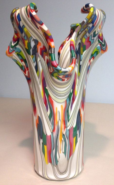 Monumental Reaction Impressive Fused Glass Drape by CGDbyMeryl, $700.00