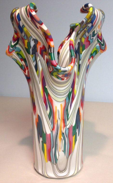 Monumental Reaction Impressive Fused Glass Drape by CGDbyMeryl