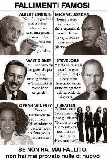 Spesso abbiamo paura di fallire. Eppure la strada per il successo il più delle volte passa attraverso diversi fallimenti. Eccone alcuni famosi.